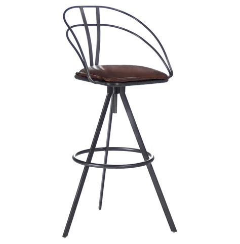residential bar stools blackthorne industrial loft adjustable height leather bar