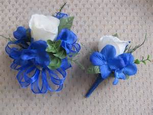 blue corsages for prom corsage and boutonniere set for wedding prom or party2814 set