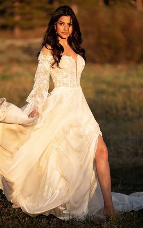 uniquely boho wedding dresses   wander bridal