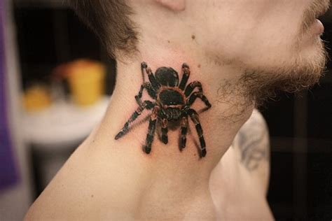 49 cool spider neck tattoos