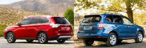 subaru outlander 2015 difference between 2015 mitsubishi outlander vs 2015