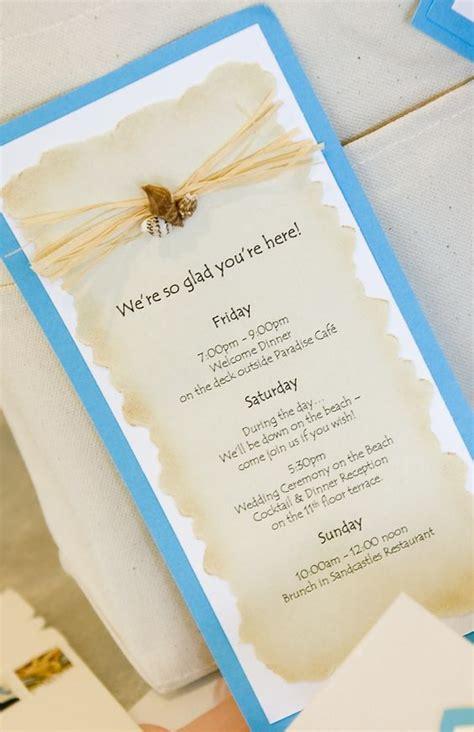 beach wedding weekend itinerary itinerary an itinerary