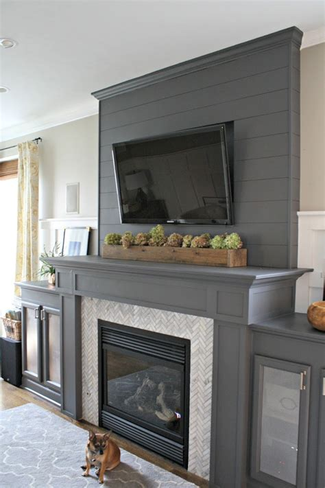 gray fireplace how to install a cement board planked wall from thrifty