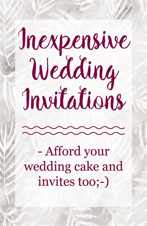 Wedding Invitations Inexpensive by Inexpensive Wedding Invitations The Best And Stay