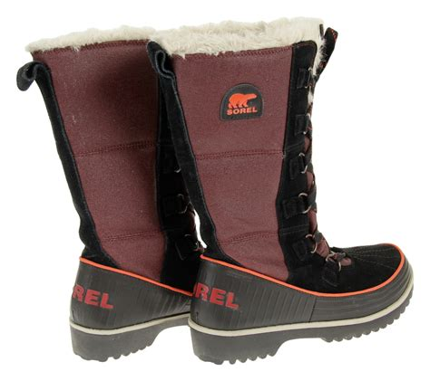 sorel tivoli high winter boots s sorel s tivoli high ii canvas winter boots maroon