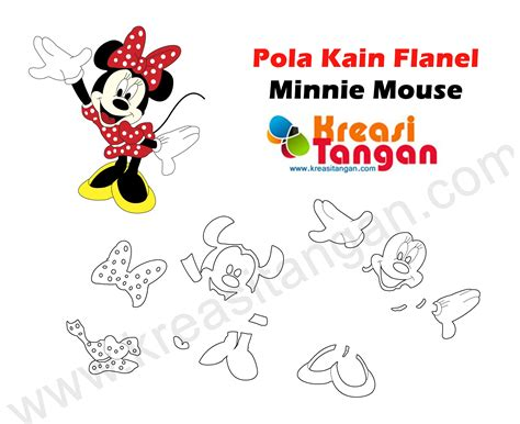 Boneka Mickey Minie Mouse pola kain flanel minnie mouse minnie mouse