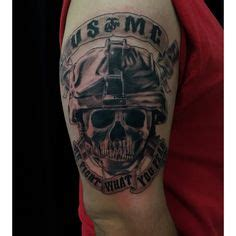 quarter sleeve tattoo marine corps military eagle globe anchor tattoo on chest photo 2