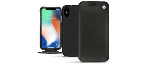 noreve tradition iphone xs max premium leather flip black