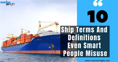 ship terms  definitions  smart people misuse