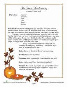 thanksgiving comprehension printables reader s theater first thanksgiving worksheet