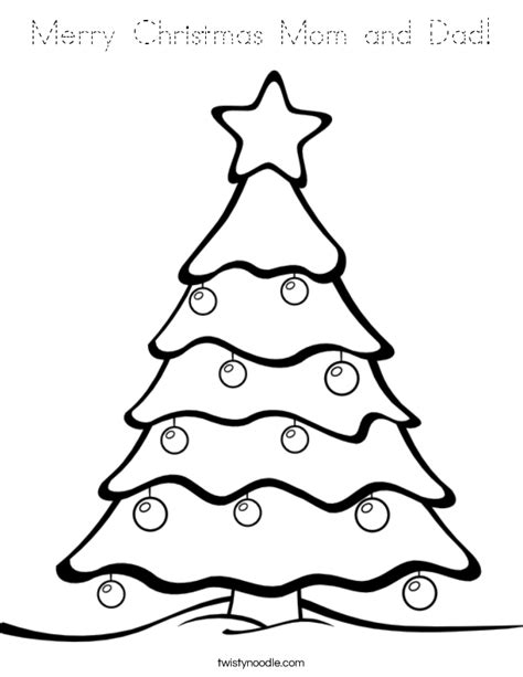 merry christmas mom  dad coloring page tracing twisty noodle