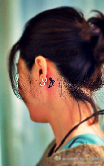 jesus fish tattoo behind ear best 25 behind ear tattoos ideas on pinterest ear