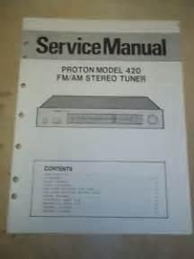 Proton Radio Repair Proton Service Manual 420 Stereo Tuner Original Ebay