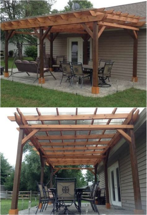 Patio Pergola Plans by 20 Diy Pergolas With Free Plans That You Can Make This