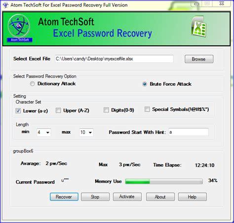 proxoft reset vba password crack xlsx password recovery screenshot