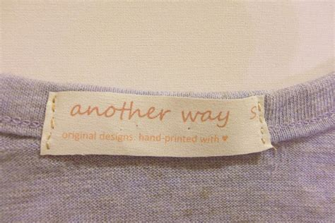 Sew In Tags For Handmade Items - diy make your own clothing labels