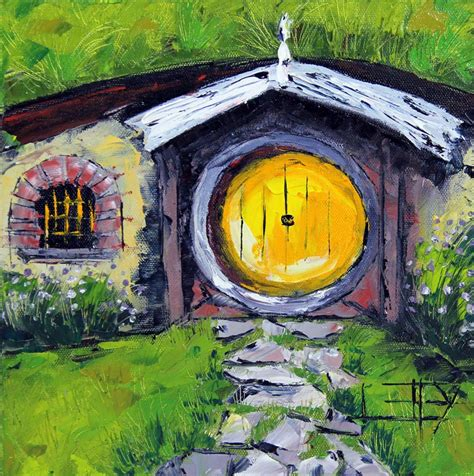 buy hobbit house hobbit house yellow door fine art print