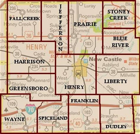 Henry County Indiana Records Hcgs Henry County Indiana Townships
