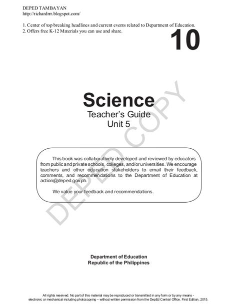 science grade 3 assessment guide books deped grade 10 science s guide quarter 3