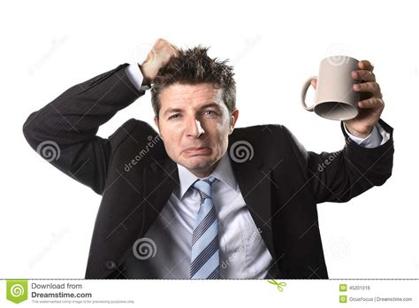 man holding business man holding a cup of coffee stock image