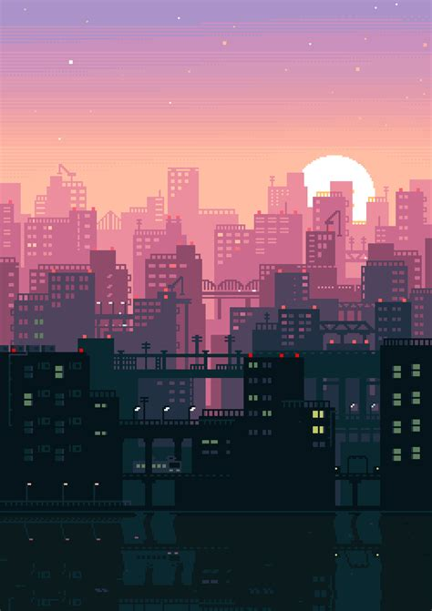 City Color Seri Ii Berkualitas fall in with these gorgeous 8 bit gifs of japan