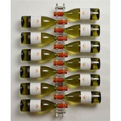 acrylic and stainless steel 12 bottle wall mounted wine