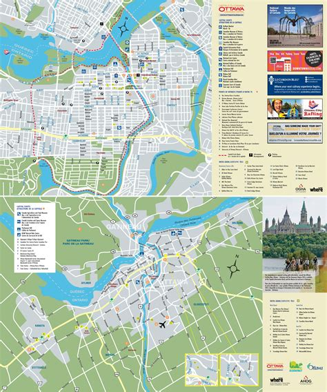map of canada ottawa ottawa tourist attractions map
