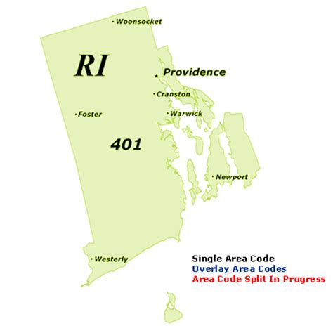 area code us islands find rhode island area codes by map