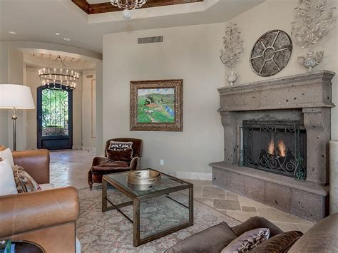 formal living room with fireplace spectacular estate in gated community in scottsdale with panoramic mountain views homes
