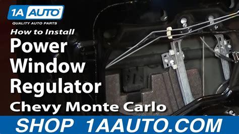 install repair power window regulator chevy monte
