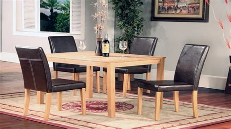 Ash Dining Table And Chairs Ash Wood Dining Table And 4 Chairs Homegenies