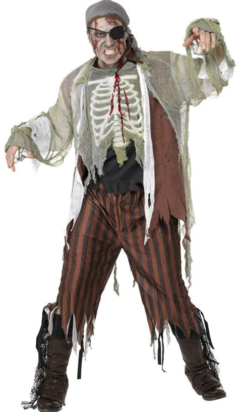 D 233 Guisement Pirate Zombie Costume Horrible Pas Cher
