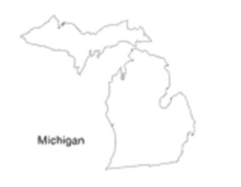 Printable Outline Of Michigan by Michigan State Map Printable Pre K 12th Grade Teachervision
