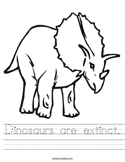 coloring pages extinct animals dinosaurs are extinct worksheet twisty noodle