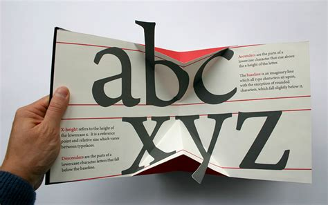 Typography Tutorial Book | 3d design geekery a movable book of typography design