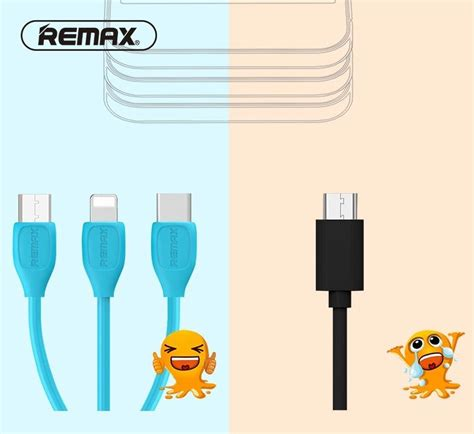 Remax Lesu Type C Usb Data Cable For Smartphone Rc 050a 1 remax lesu rc 050th micro usb lightning usb type c