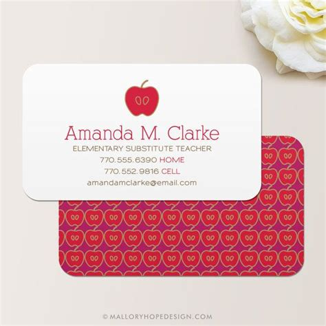 Substitute Business Card Template by 25 Best Ideas About Business Cards On