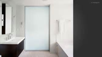 Frosted Glass Doors Bathroom Bathroom With Frosted Glass Pocket Door Bathroom Design