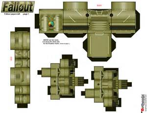 papercraft weapons templates fallout papercraft page 1 by randyfivesix on deviantart