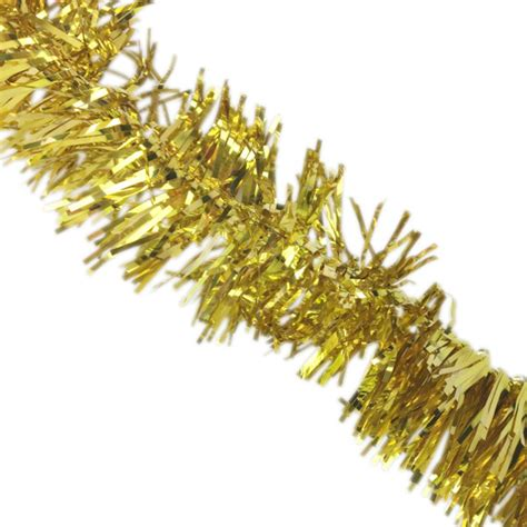 metallic tinsel garland 10pcs gold