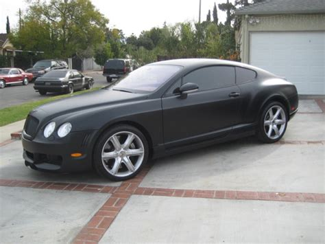 bentley black matte bentley continental gt wrapped in matte black vinyl