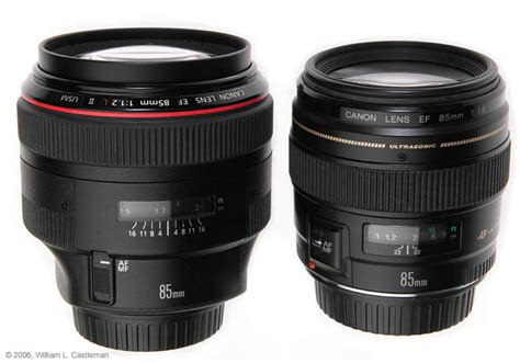 Lensa Canon 85mm F1 8 review of canon ef 85mm f 1 2l ii lens and canon ef 85mm f 1 8 lens