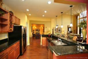yellow and brown kitchen pictures of kitchens traditional medium wood cabinets golden brown page 3
