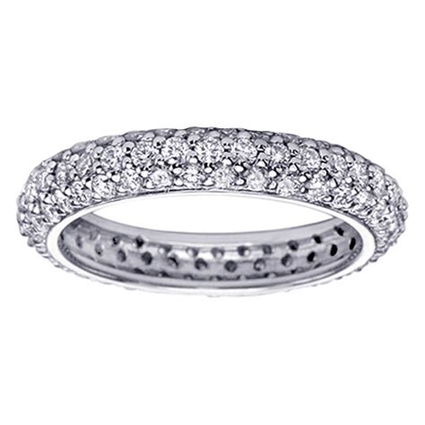 2 20 ct all around pave set eternity ring in