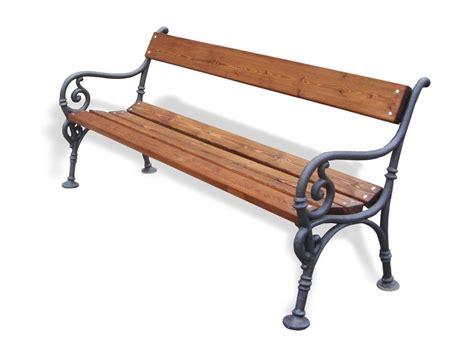 panchina ghisa e legno arredo urbano gt panchine
