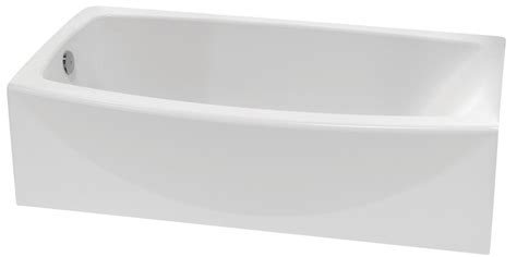 american standard cadet bathtub american standard cadet acrylic curved bathtub with right hand drain the home depot