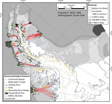 mega scale glacial lineations antarcticglaciers org