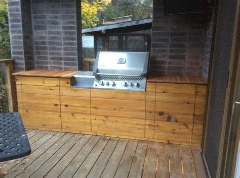 Backyard Bbq Enclosure Custom Built In Grill Enclosure X Post From R Bbq