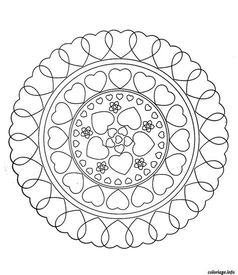 lovely mandalas beautiful patterns coloriage free mandala to color hearts love jecolorie com