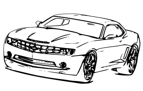 Free Coloring Pages Of Camaro Chevrolet Camaro Coloring Page